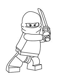 Zane, the ninja of ice. Lego Ninja Coloring Pages Printable Page 1 Line 17qq Com