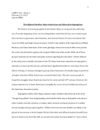 highest hurdles asian americans and education segregation 1 lamp l 416 essay 1 23 2015 lauren miller the highest hurdles