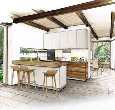 Kitchen sketch Ms  Interior Design SketchesDrawing InteriorInterior ...