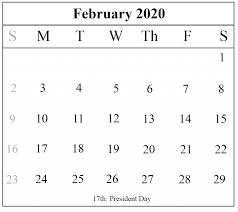 February 2020 Calendar Template Printable February 2020 Calendar Printable Best Printable Calendar