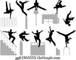 <b>Parkour</b> Clip Art - Royalty Free - GoGraph