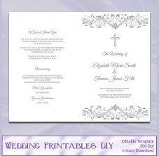 Wedding Program Template 61 Free Word Pdf Psd Documents