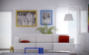 Red And Blue Living Room Decor White Red Blue Living Interior Design Ideas