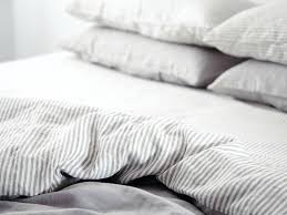 striped linen duvet cover ultra luxurious pure french double sided quilt in soft grey stripes washed