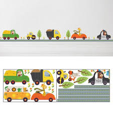 car nursery wall decor animal car wall stickers removable children bedroom
