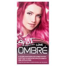Splat Hair Dye Color Chart Splat 30 Wash Ombre Love Hair Color Kit Semi Permanent Pink Red Dye Walmart Com