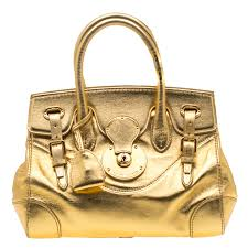 ralph lauren gold leather ricky 27 tote nextprev prevnext