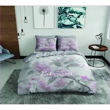 sasa craze bedding 100 cotton panel printed duvet cover set with 1 pillowcase grey single â live your life in full bloom on on