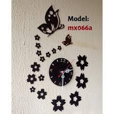 decorative erfly diy wall clock
