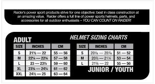Raider Youth Helmet Sizing Chart Raider Y55 564 15 Rush Youth Mx Off Road Helmet Gloss Black