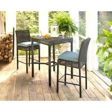 counter height outdoor dining set 3 piece wicker outdoor patio high bar bistro set with peacock counter height outdoor dining set