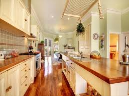 Creativity White Country Galley Kitchen Design U With Inspiration