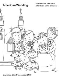 Wedding Colouring Pages Printable Wedding Party Coloring Page
