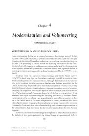 Modernization and Volunteering   Springer The Values of Volunteering The Values of Volunteering