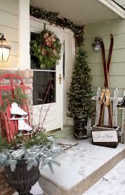 Door Corner Decorations Exterior Christmas Porch Decorating Ideas Simple Christmas Porch