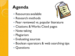 ib extended essay library briefing agenda resources  agenda resources available research methods peer reviewed vs