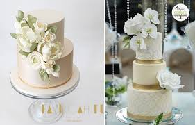 pale gold champagne wedding cakes cake geek magazine