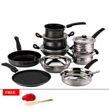 Non Stick Kitchen Appliances Mahavir 10 Pc Non Stick Cookware Set Cookware Sets Homeshop18