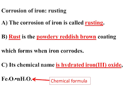 corrosion of iron rusting a the corrosion of iron is called rusting