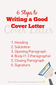 How To Write A Cover Letter For A Copywriting Job Writing A Good Cover Letter A Step By Step Writing Guide