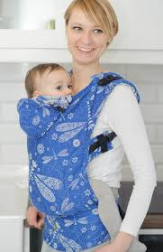 Ergonomic Carrier, Baby Size, jacquard weave 100% cotton - DRAGONFLY ...