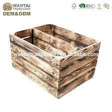decorative wooden crates shabby slat for storage with logo wood fruit case dog sla