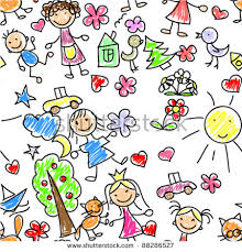 Small Picture Kids Drawing Seamless Pattern Stock Vector 88286527 Shutterstock