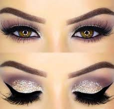 glitter eye makeup look for new year s eve