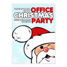 Funny Christmas Office Party Invitations Zazzle Com