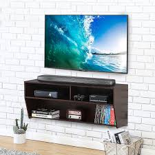 TV console cabinet Wall Mount Media Console Entertainment Center TV Stand  Floating video console -DS210301WB