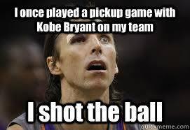 Kobe hurt Nash memes | quickmeme via Relatably.com