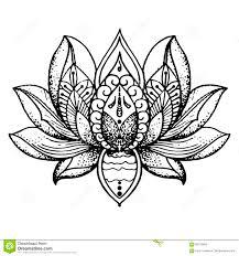 лотос татуировки буддизм иллюстрация штока иллюстрации