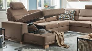 Couch U Form Braun