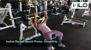 Reverse Grip Incline Bench Barbell Press Smith Machine Reverse Incline Bench Press Grip