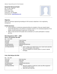 Professional Resume Format For Freshers Pdf Free Samples