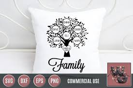 Family Tree Tree Template Family Tree Template Bundle Svg Dxf Png Eps Commercial