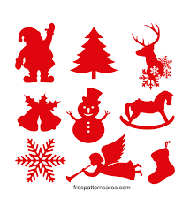 Are you searching for christmas ornament png images or vector? Christmas Ornament Silhouette Vector Shapes Freepatternsarea