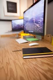 office desk surface.  Surface The Desk Surface Is Made With Sheets Of Red Oak Veneered Plywood Purchased  At Home Inside Office Desk Surface