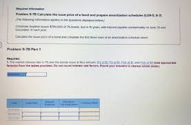 Solved Required Information Problem 9 7b Calculate The Is