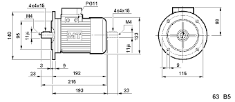 Metric 63 Frame Motor Dimensions And Mounting