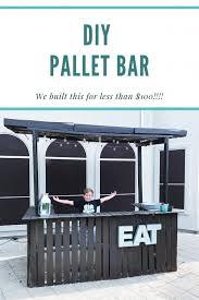 diy pallet bar for under 100 all my