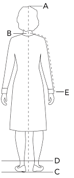 full body measurement chart sizing fit