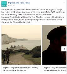 Brighton Fringe Sees Debut From 16 Year Old From Hove
