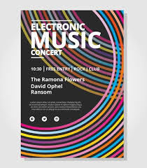 Poster Template Download Electronic Concert Poster Template Download Free Vector Art Stock