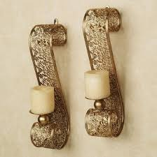 gold wall sconces for candles implausible brass sconce candle holder home design ideas throughout the decorating