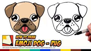 cute pug drawing. Delighful Drawing How To Draw A Cute Dog Emoji Pug For Beginners Step By  BP In Drawing C