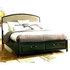 Kira King Storage Bed Dimensions Bedroom Set Platform Mocha ...