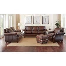 leather sofa chair. Cameron Park 4-piece Top Grain Leather Set Sofa Chair