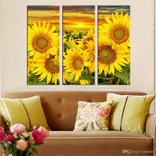2018 hot canvas prints flower sunflower wall art painting modern modular pictures for living room canvas painting art works unframed from yufisher  on sunflower wall art canvas with 2018 hot canvas prints flower sunflower wall art painting modern