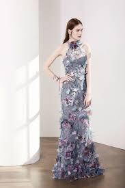 Marchesa Notte Sleeveless 3D Floral Halter Evening Gown N14G0359 ...